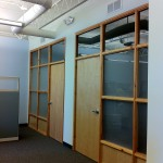frosted glass office walls