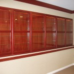 built in display cabinets
